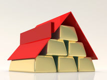Mortgage Concept. Abstract 3d Illustration of Mortgage Concept Stock Image