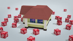 Mortgage concept stock video footage