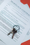 Mortgage Contract. Photo of Mortgage contract with ballpoint pen Royalty Free Stock Photography
