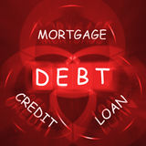 Mortgage Credit and Loan Displays financial Debt Stock Photos