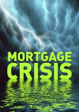 Mortgage crisis. Conceptual illustration: financial crisis (recession Royalty Free Stock Image