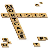 Mortgage Crisis Crossword Puzzle Stock Photos