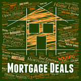 Mortgage Deals Shows Real Estate And Bargains Royalty Free Stock Images