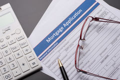 Mortgage Documents. On business table stock photos