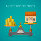 Mortgage expenses vector concept in flat style Royalty Free Stock Photography