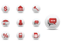 Mortgage and finance icons set Stock Photography