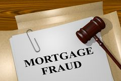 Mortgage Fraud concept Stock Images