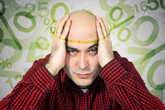 Mortgage headache concept Stock Photo