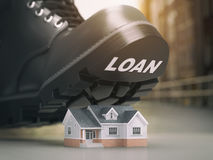 Mortgage house loan crisis concept. Foreclosure and repossession Royalty Free Stock Photo