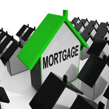 Mortgage House Means Debt And Repayments On Property Stock Photo