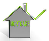 Mortgage House Means Repayments On Property Stock Images