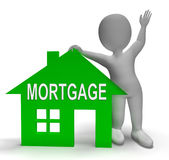Mortgage House Shows Paying Off Property Debt Royalty Free Stock Photo