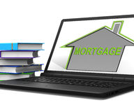 Mortgage House Tablet Means Repayments On Property Loan Royalty Free Stock Image