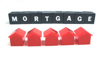 Mortgage and houses Royalty Free Stock Photography