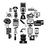 Mortgage icons set, simple style. Mortgage icons set. Simple set of 25 mortgage vector icons for web isolated on white background Stock Image