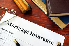 Mortgage insurance stock photos