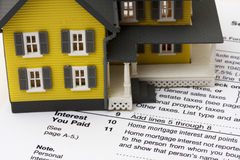 Mortgage Interest Deduction Royalty Free Stock Photo