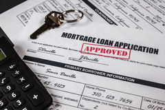 Mortgage Loan Application Approved 008 Stock Photos