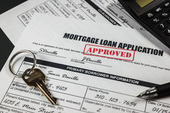 Mortgage Loan Application Approved 009 Stock Photo