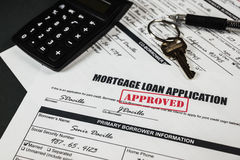 Mortgage Loan Application Approved 012 Royalty Free Stock Images