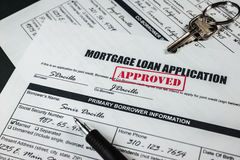 Mortgage Loan Application Approved 006 Stock Photos