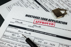 Mortgage Loan Application Approved 005 royalty free stock images