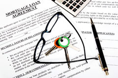 Mortgage loan application form Royalty Free Stock Images