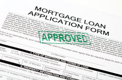Mortgage. Loan application form and pen royalty free stock photos