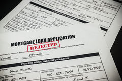 Mortgage Loan Application Rejected 008 Stock Photos