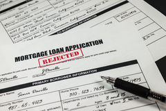 Mortgage Loan Application Rejected 001 Royalty Free Stock Photography