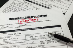 Mortgage Loan Application Rejected 009 Stock Images
