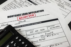 Mortgage Loan Application Rejected 003 Stock Photo