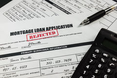 Mortgage Loan Application Rejected 004 Royalty Free Stock Image