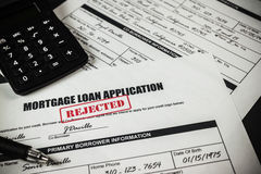 Mortgage Loan Application Rejected 007 Stock Photo