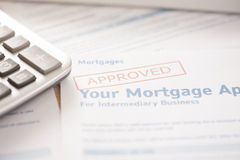 Mortgage loan Stock Photo