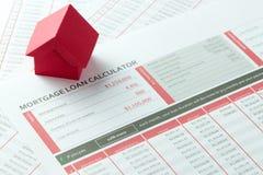 Mortgage loan balance sheet Royalty Free Stock Photos