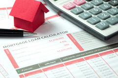 Mortgage loan calculator Royalty Free Stock Images