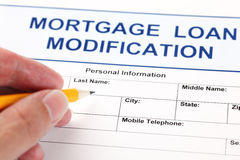 Mortgage Loan Modification application form Stock Photo