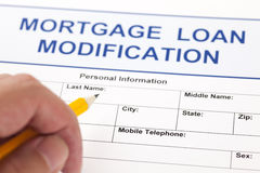 Mortgage Loan Modification form Royalty Free Stock Photo