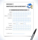 Mortgage paper form ,loan application with home icon Royalty Free Stock Image