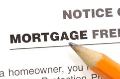 Mortgage plan Stock Photography