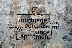Mortgage puzzle concept Royalty Free Stock Photos