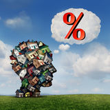 Mortgage Rate Plan Royalty Free Stock Photo