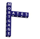 Mortgage Rates Royalty Free Stock Photos