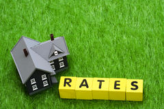 Mortgage Rates Royalty Free Stock Image