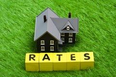 Mortgage Rates Royalty Free Stock Photo