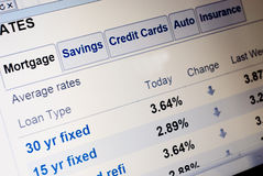Mortgage rates Stock Images