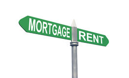 Mortgage Rent sign concept Stock Photography
