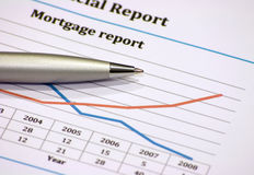 Mortgage report Stock Photos