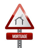 Mortgage road sign illustration design Stock Image